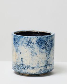 Blue Fractured Pot 1
