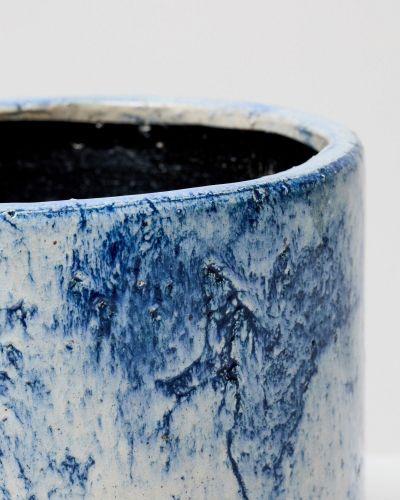 Blue Fractured Pot 2
