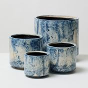 Blue Fractured Pot 4