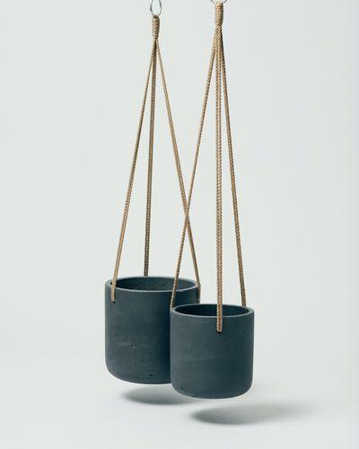 Hanging Fiberclay Pot Black