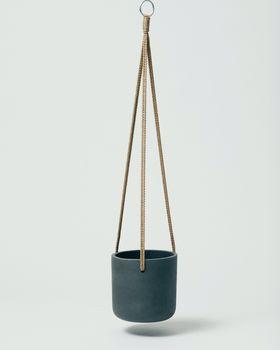 Hanging Fiberclay Pot Black Small