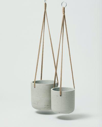Hanging Fiberclay Pot Stone