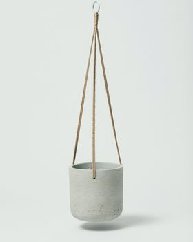 Hanging Fiberclay Pot Stone Medium