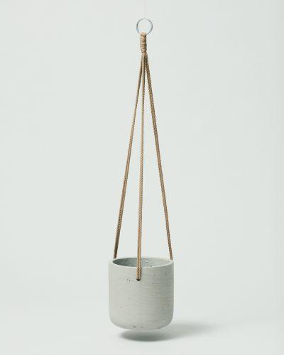 Hanging Fiberclay Pot Stone Small